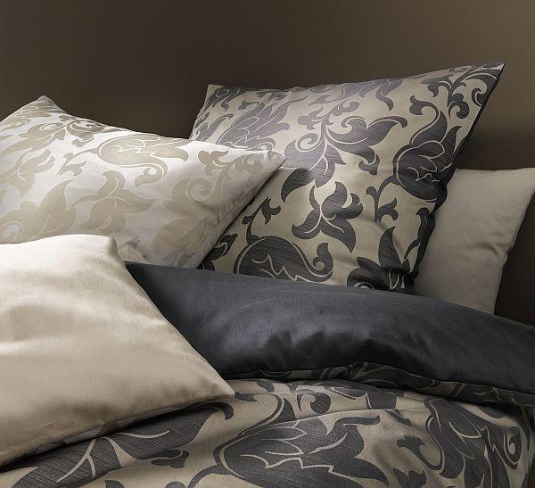 fleuresse damast bettw sche palazzo mit blumen gold garnitur 155x220 cm kopfkissen 80x80 cm. Black Bedroom Furniture Sets. Home Design Ideas