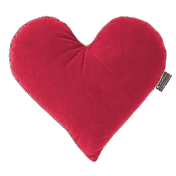 pichler kissen in herzform rubin 37x40 cm handtuch co. Black Bedroom Furniture Sets. Home Design Ideas