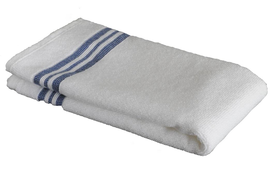 sauna sitztuch wei mit blauen streifen 50x50 cm handtuch co. Black Bedroom Furniture Sets. Home Design Ideas